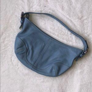 Coach blue hobo bag